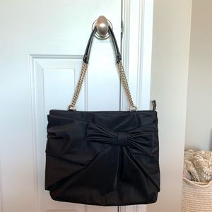 NEW Kate Spade Esther Tote Black Nylon with Bow